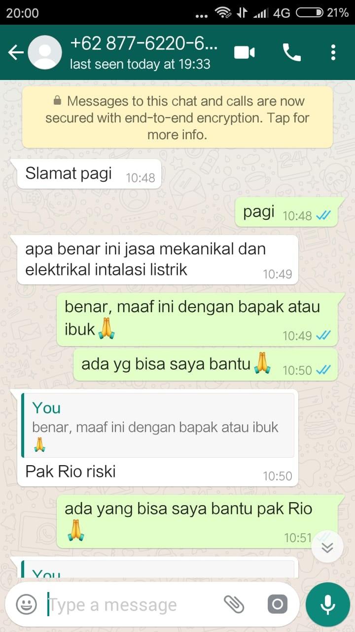 Tukang Listrik Lampung Tengah ARTUR TEHNIK MANDIRI