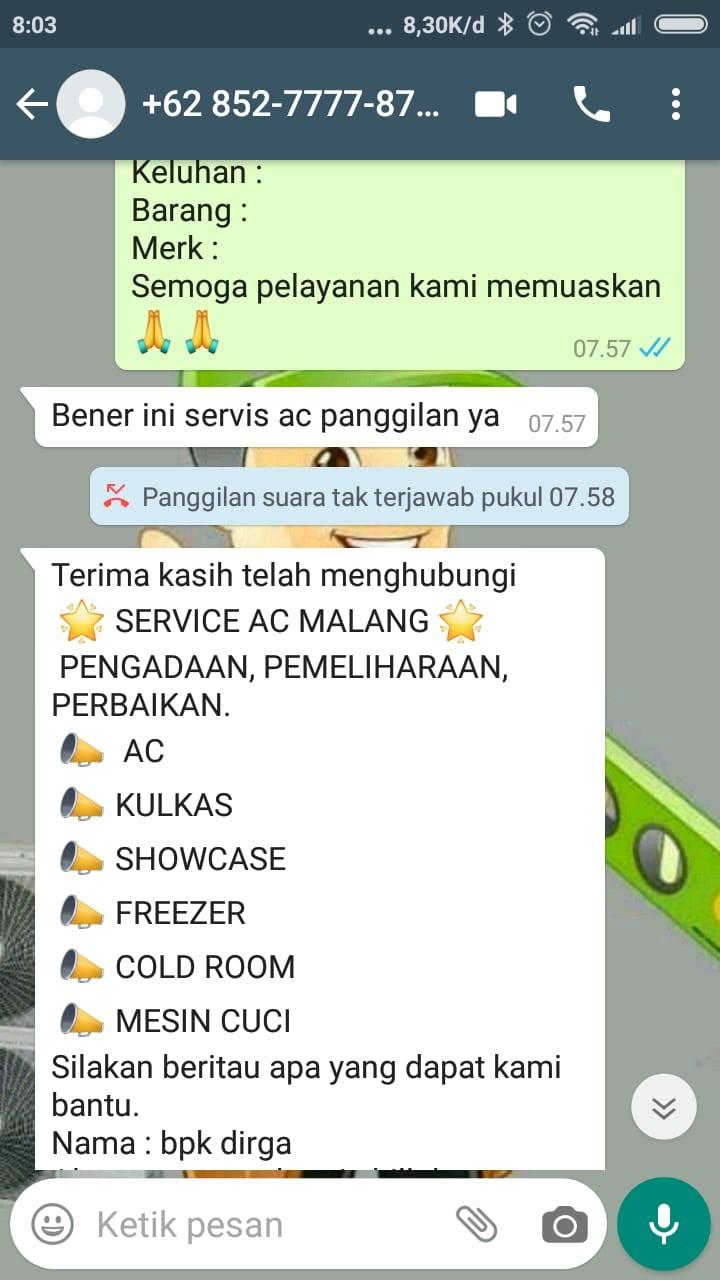 Service AC Malang GUSTOMY TEKNIK AC
