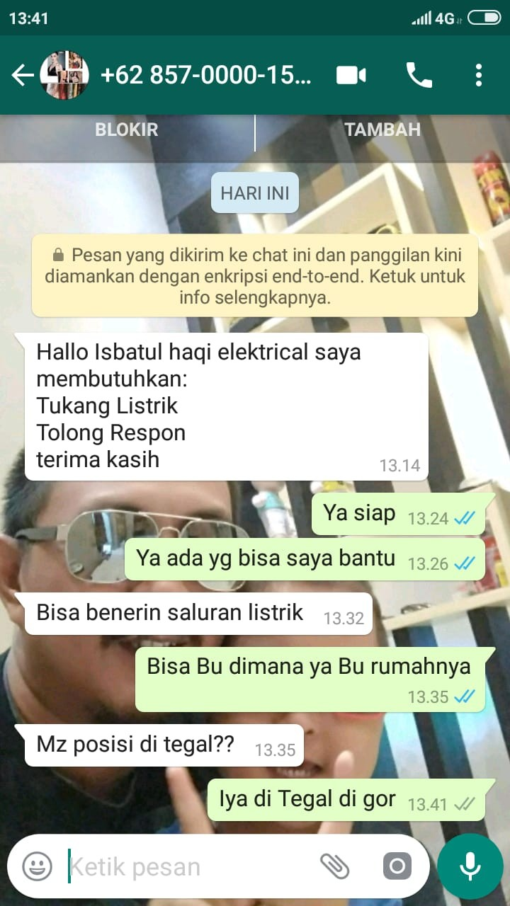 Tukang Listrik Tegal ISBATUL HAQI ELECTRICAL