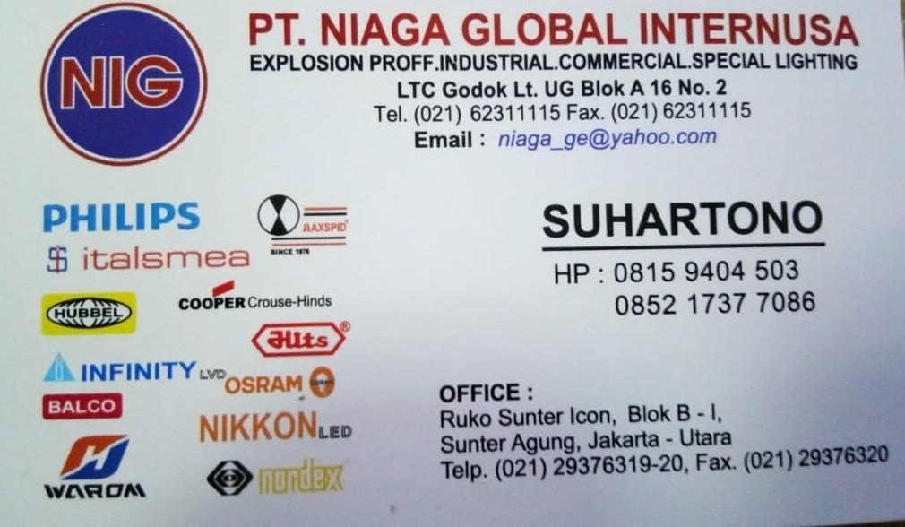 Toko Listrik Jakarta Utara PT NIAGA GLOBAL INTERNUSA