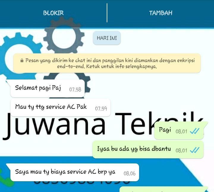 Service AC Sedayu JUWANA TEKNIK