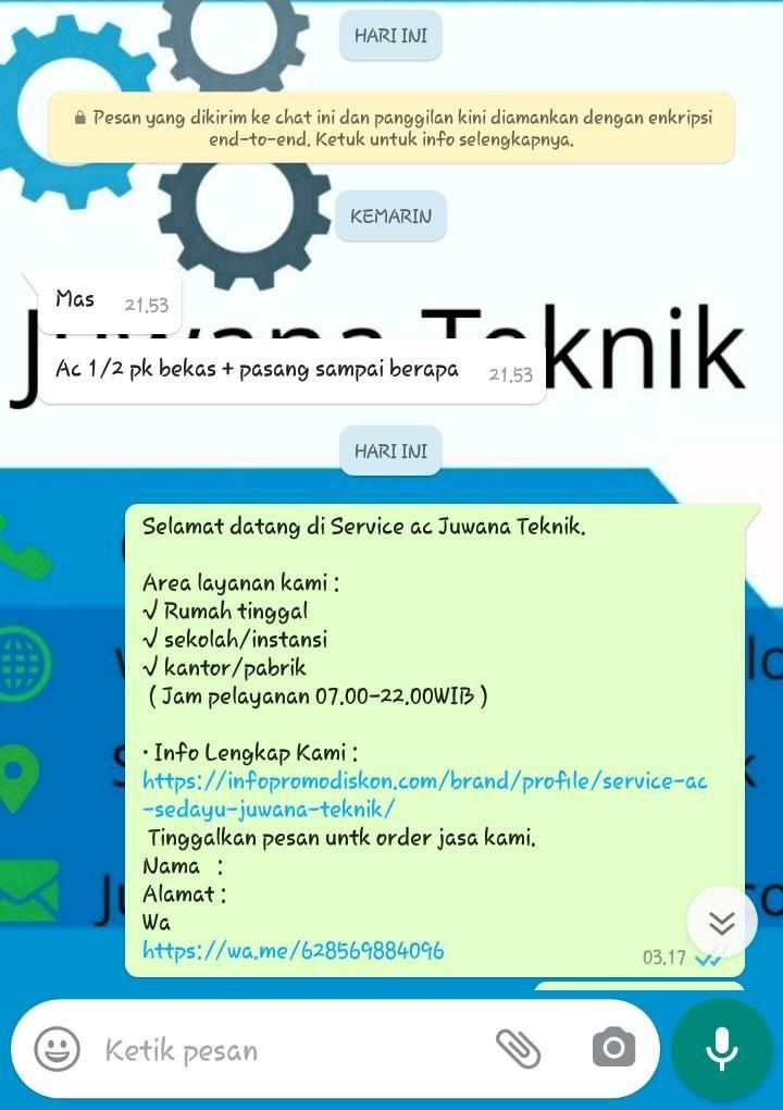 SERVICE AC JUWANA TEKNIK