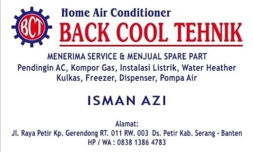 Service AC Serang | BACKCOOL TEHNIK