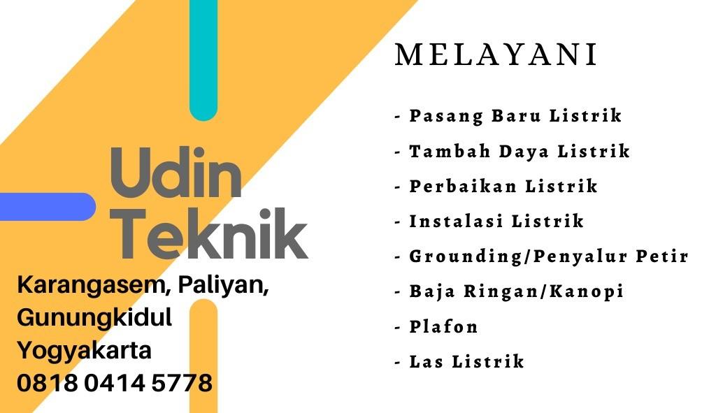 Tukang Listrik Gunung Kidul Yogyakarta UDIN TEKNIK