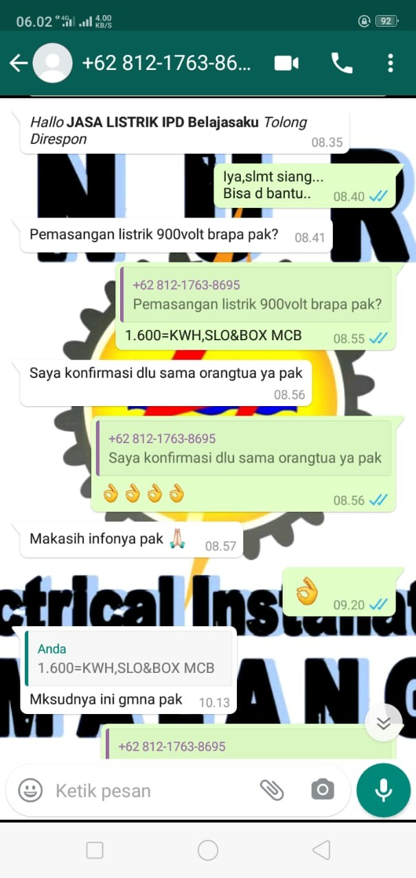 Tukang Listrik Malang NUR ELECTRICAL INSTALLATION SPECIALIST